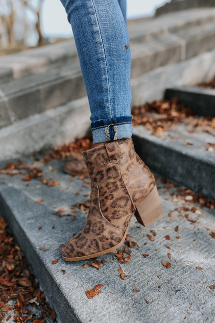 Very G Leo Leopard Booties