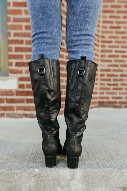 Very G Infinite Black Riding Boots