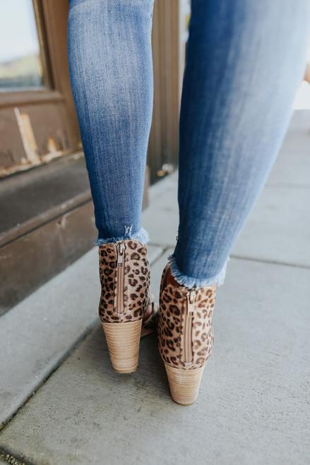 Very G Hollyridge Peep Toe Leopard Wedges