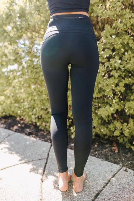 High Waist Eco Black Leggings