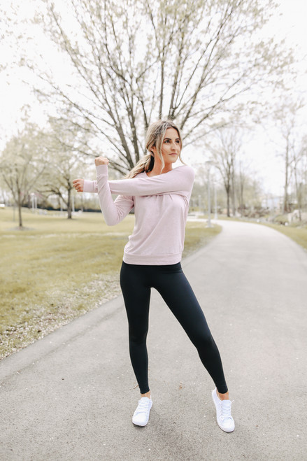 Slouchy Eco-Jersey Rose Pullover