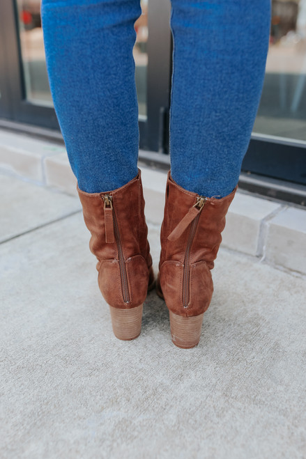 Very G Preston Tan Midi Booties