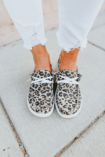 Gypsy Jazz Canvas Leopard Boat Shoes
