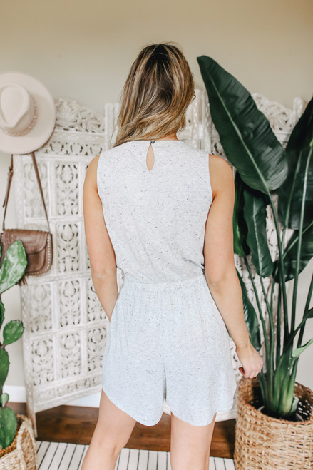 Henley Heather Grey Tulip Romper