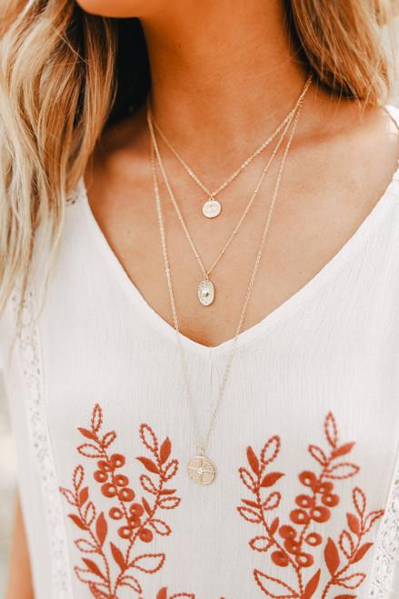 Verona Layered Gold Coin Necklace