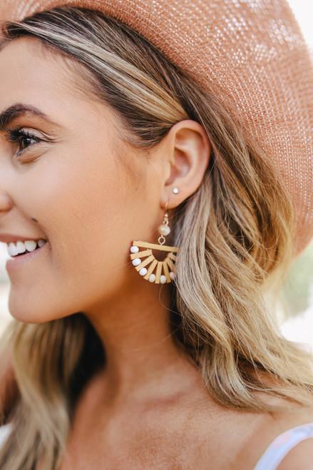Half Circle Wood Earrings