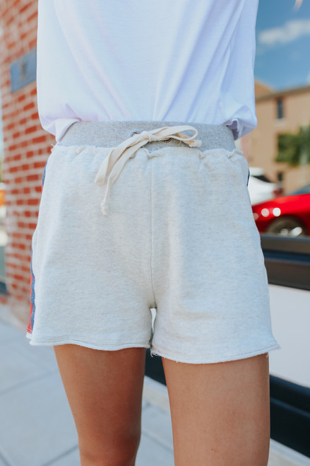 Varsity Stripe French Terry Shorts
