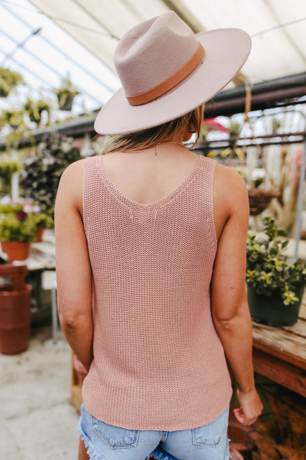 V-Neck Ginger Sweater Tank