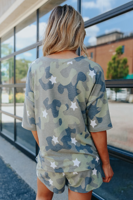 Short Sleeve Camo Star Pullover