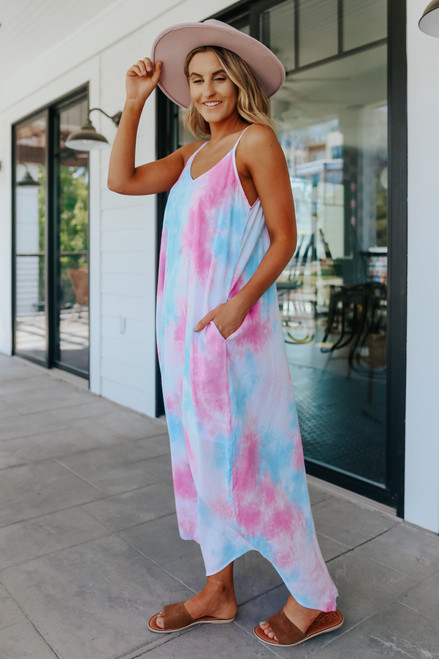 Pacific Coast V-Neck Tie Dye Maxi