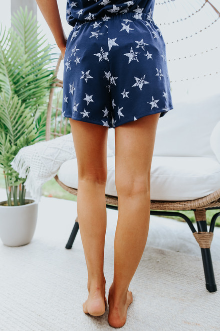 Vintage Navy Star Lounge Shorts