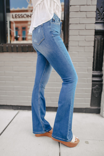 In My Groove Medium Wash Flare Jeans