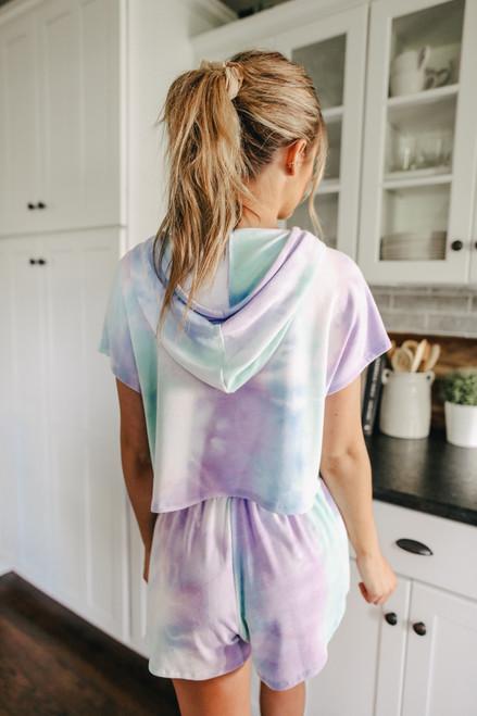 Aloha Short Sleeve Tie Dye Hoodie