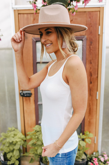 Slice of Summer Scoop Neck White Tank