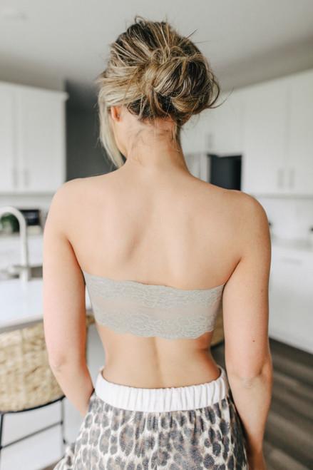 Lace Back Taupe Bandeau