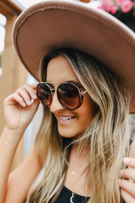 Boca Tortoise Aviator Sunglasses