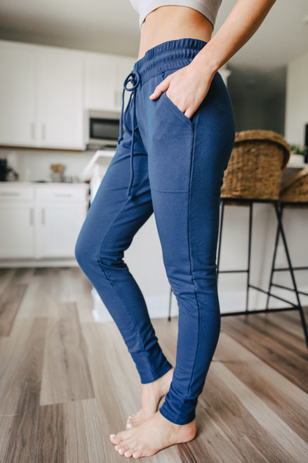 Free People Sunny Skinny Navy Sweatpants