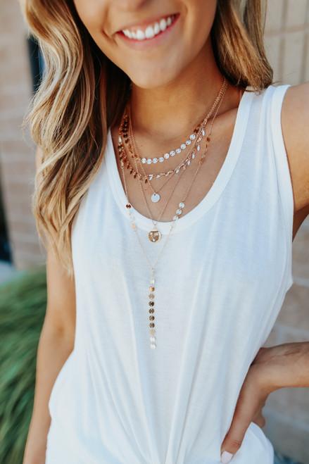 Greek Goddess Layered Gold Coin Necklace