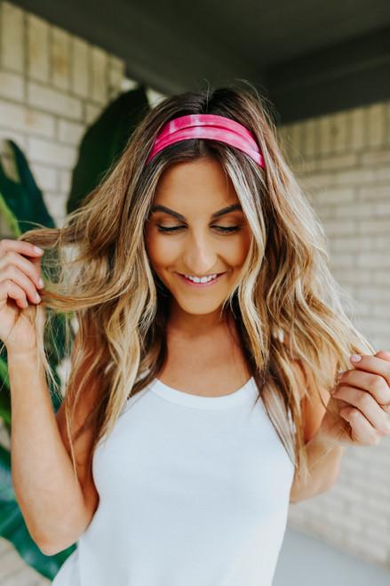 Ocean Avenue Pink Tie Dye Headband