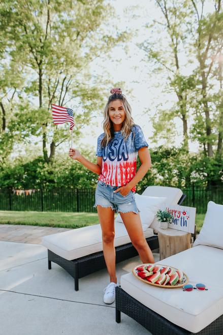 USA Patriotic Tie Dye Tee