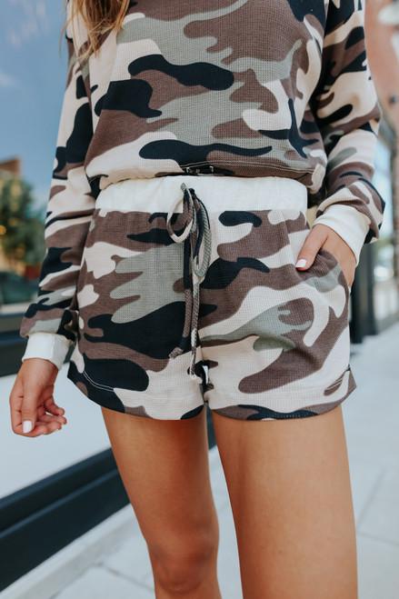 Code Name Thermal Camo Lounge Shorts
