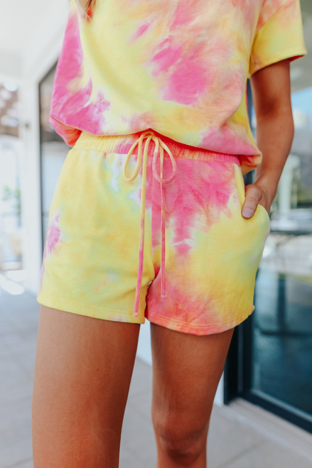 Sugar Rush Tie Dye Lounge Shorts