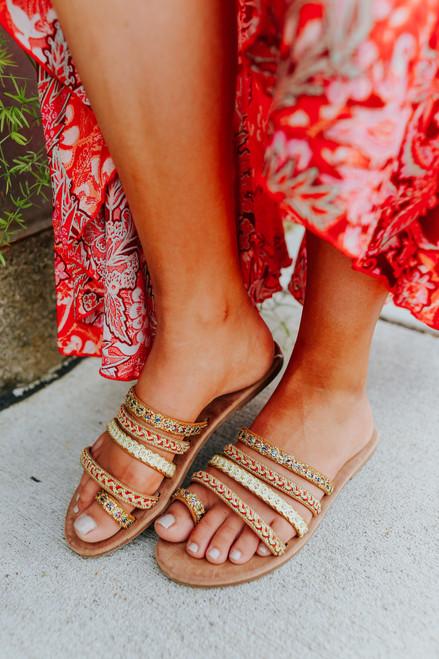 Eastern Market Metallic Multicolored Sandals
