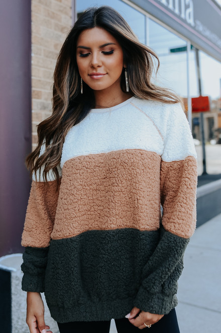 Ledgewood Colorblock Sherpa Pullover
