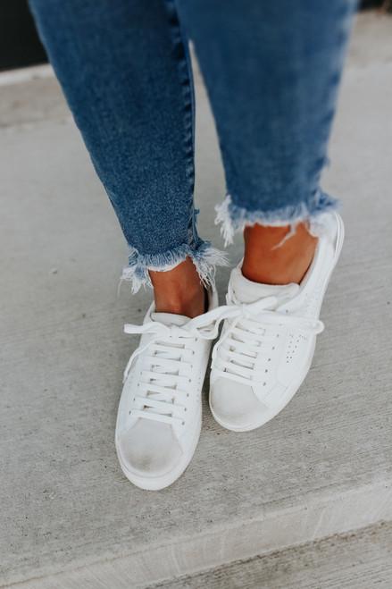 Steve Madden Rezume White Sneakers