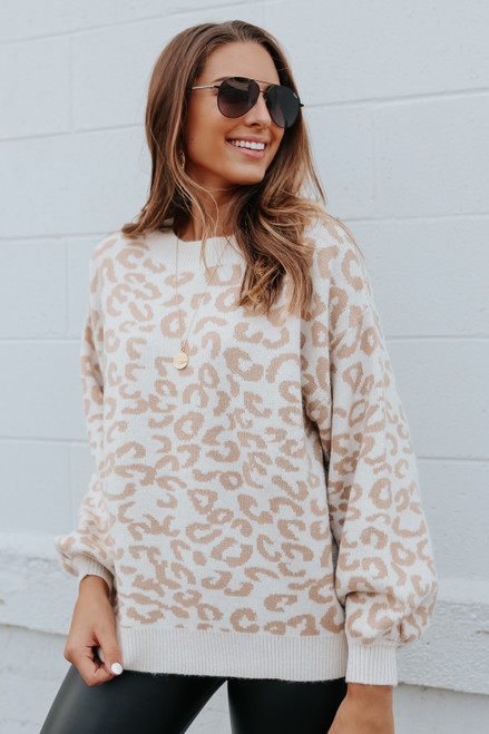 Ryland Square Leopard Sweater