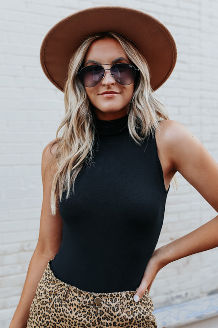 Social Affair Turtleneck Black Bodysuit
