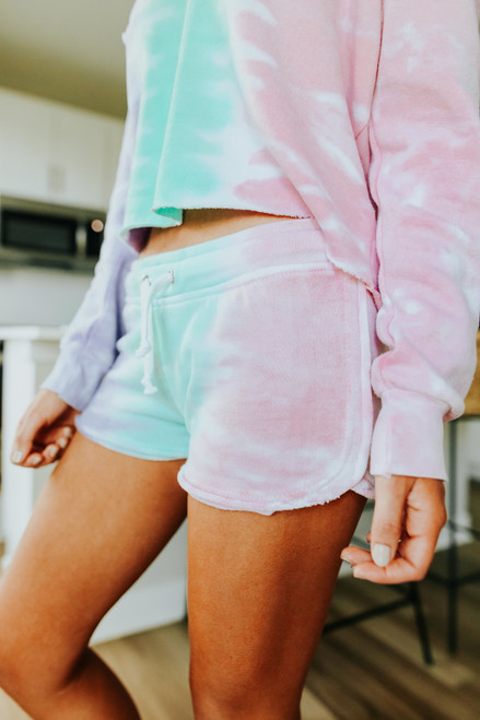 Ocean Drive Tie Dye Fleece Lounge Shorts