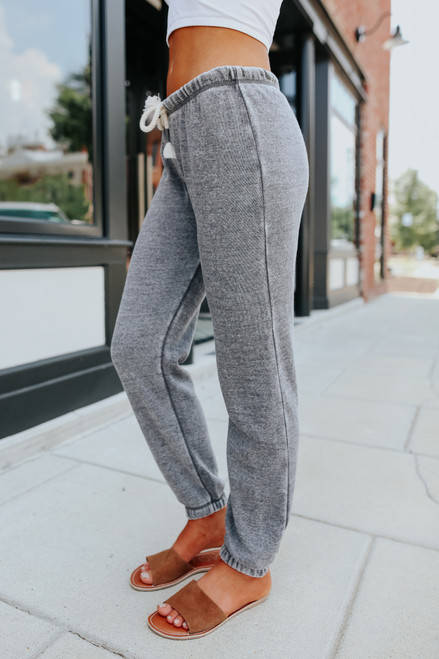 Ocean Drive Steel Grey Burnout Joggers