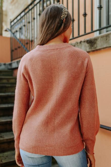 City Affair Raglan Mauve Sweater