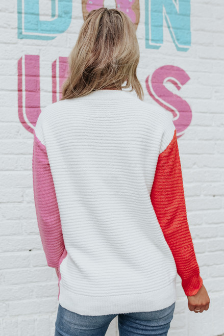 Sweetener Colorblock Ribbed Sweater