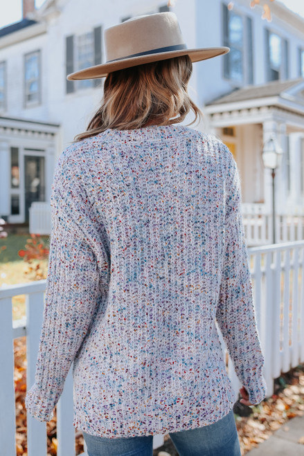 Waverly Open Knit Confetti Sweater