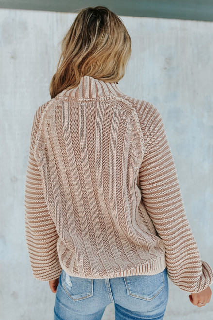 Free People Sweetheart Sand Castle Sweater
