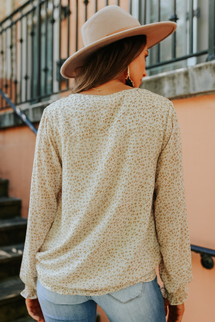 Surplice Natural Leopard Blouse