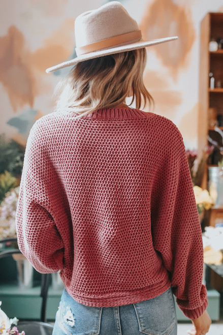 Folklore Cable Chenille Marsala Sweater
