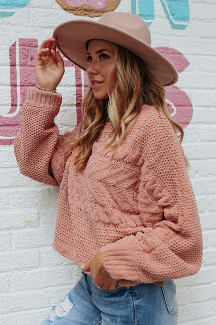 Folklore Cable Chenille Terracotta Sweater