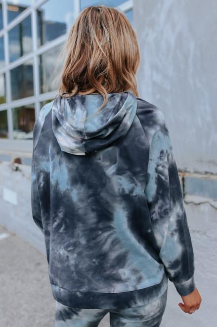 Saltwater Tie Dye Drawstring Hoodie
