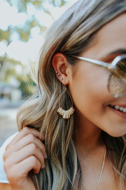 Teardrop Wood Dangle Earrings