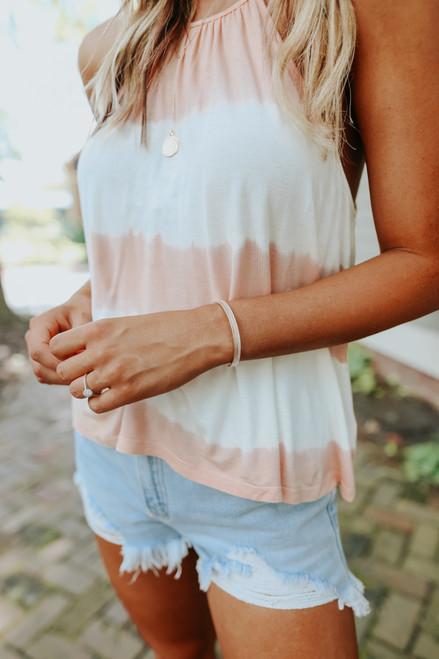 Textured Rose Gold Metal Cuff Bracelet