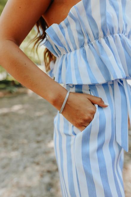 Textured Silver Metal Cuff Bracelet