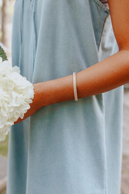 Textured Gold Metal Cuff Bracelet