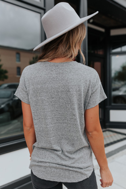Stuck in the 90's Distressed Grey Tee