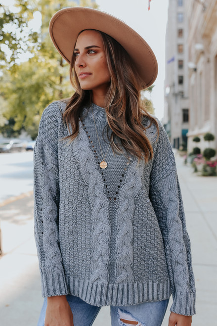 Twisted Pine Mixed Cable Sweater