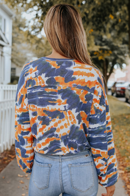 Good Vibes V-Neck Tie Dye Pullover