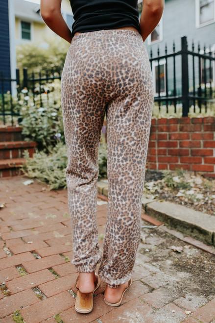 Sweet Spot Brushed Leopard Joggers