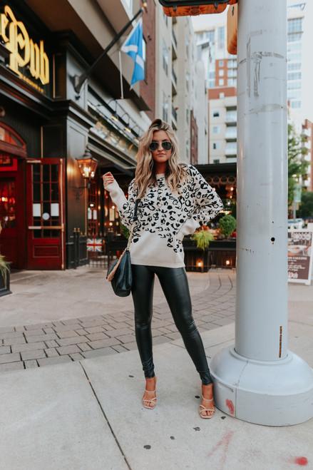 Feeling Fierce Leopard Sweater